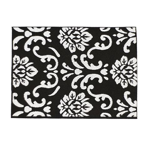 Modern Black And White Rug by E2266 Black White Modern Rug Dolls House