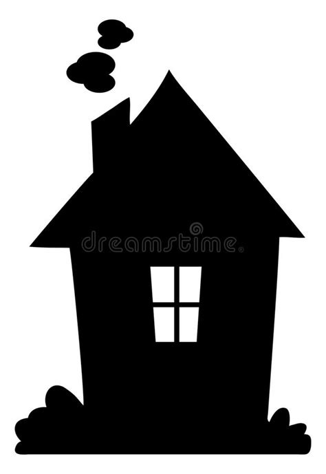 house silhouette royalty  stock images image