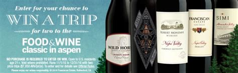 Food And Wine Sweepstakes - sweepstakeslovers daily helzberg diamonds jansport refinery29 more