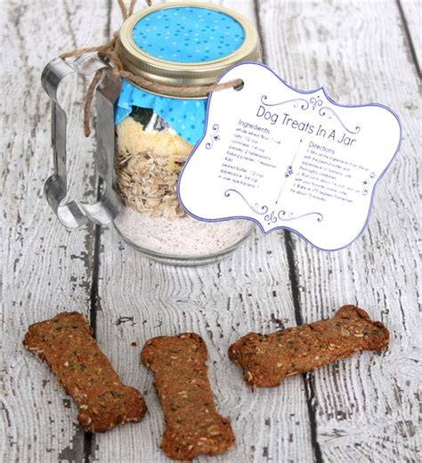 dog biscuits in a jar gift idea for dog lovers