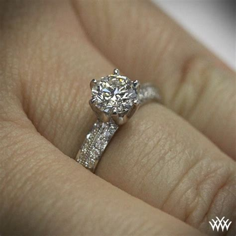 knife edge pave engagement ring 711