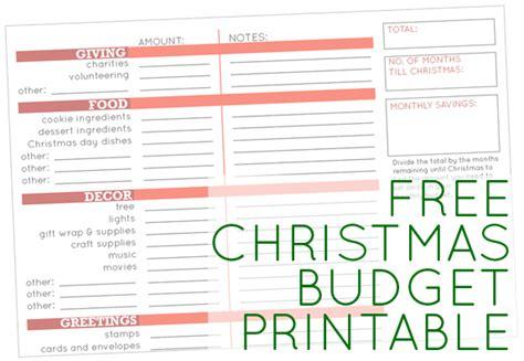 printable holiday budget planner free christmas budget printable 24 7 moms