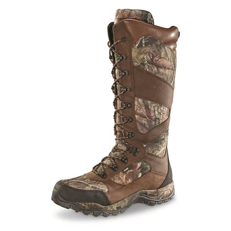 guide gear s pursuit ii camo 16 quot snake boots mossy