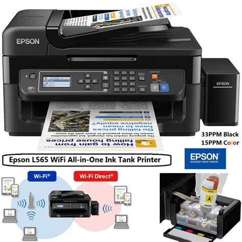 Printer Wifi Epson epson l565 wifi all in one ink tank printer personal computer center