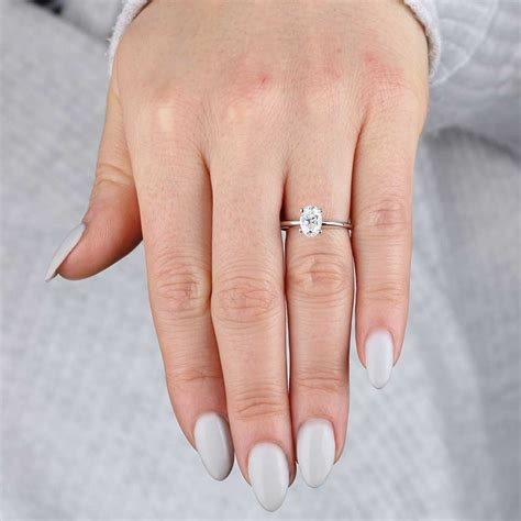 oval solitaire 14k 1 ct ben bridge jeweler - 1 Ct Oval Ring On