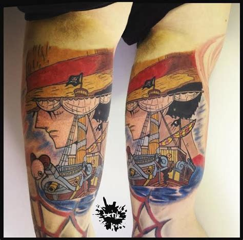 one piece luffy tattoo designs one piece tattoo luffy going merry one piece pinterest