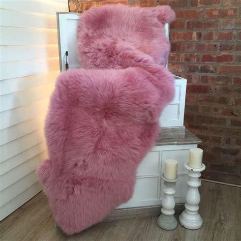 luxury sheepskin rug luxury floss pink sheepskin rug by cowshed interiors notonthehighstreet