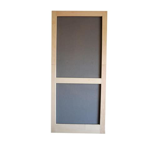 Decorative Moulding Home Depot by Shop Screen Tight Wood Screen Door Natural Wood Hinged