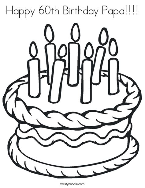 happy birthday papa coloring pages happy 60th birthday papa coloring page twisty noodle