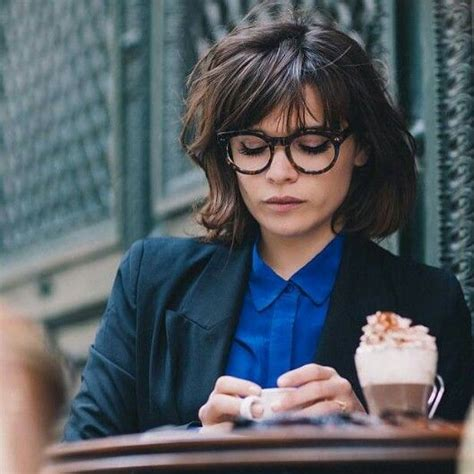 bob haircuts and glasses french chic bob glasses hairstyles pinterest