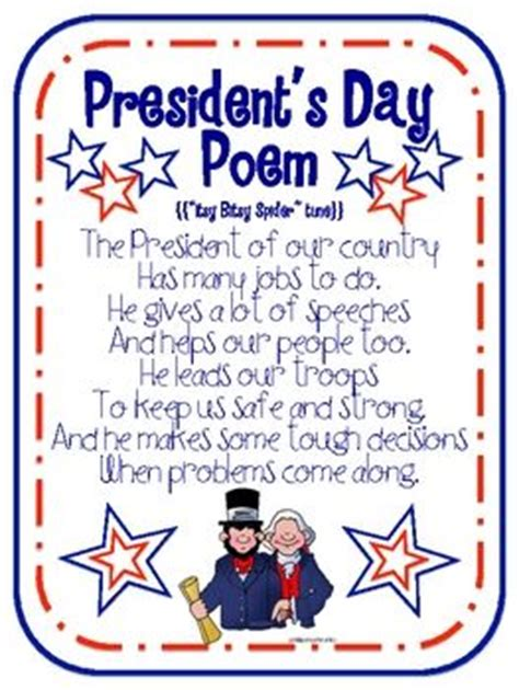 s day beginning song presidents day presidents and poem on