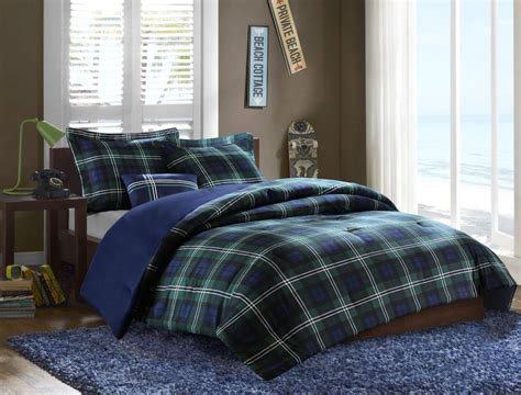 blue plaid comforter plaid bedding sets ease bedding with style