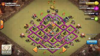 Of clans strategy townhall 7 anti dragon war bases 1280x720 png