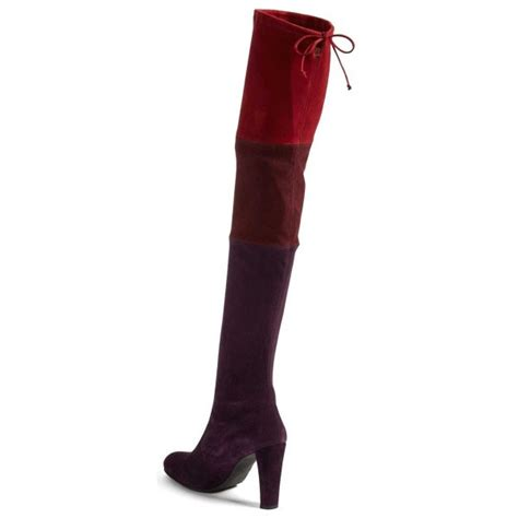 multi color chunky heel boots suede s thigh high