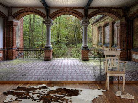 einrichten wohnzimmer 2944 0281 fototapete vintage villa 2 bildtapete