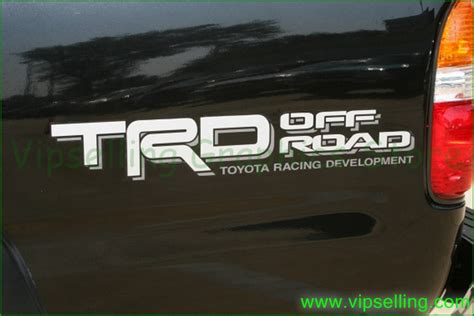 Toyota Road Decals Toyota Trd Road Silver Grey Quarter Panel Decals Kit