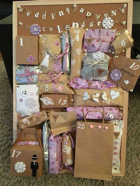Made this wedding advent calendar for my best friend who
