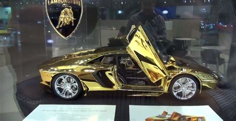 platinum lamborghini watch a 350 000 gold and platinum aventador scale model