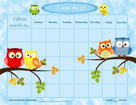 printable chore incentive charts printable personalized children s reward chart chore