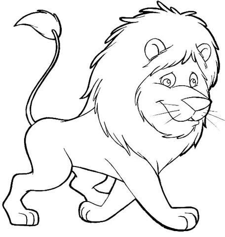 free animals lion printable painting for preschool lion