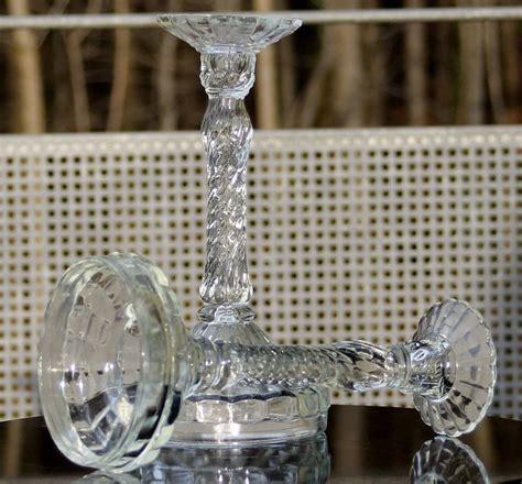 dänische kerzenleuchter 1 paar gro 223 e pressglas kerzenleuchter deco um 1920