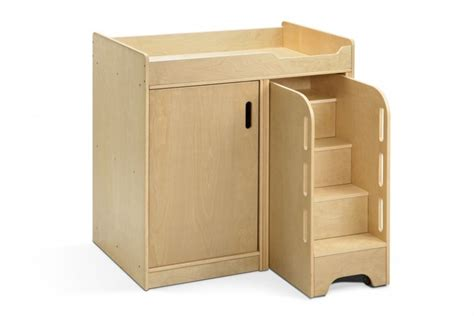 Walk Up Baby Changing Table With Steps Edusentials Changing Table With Steps