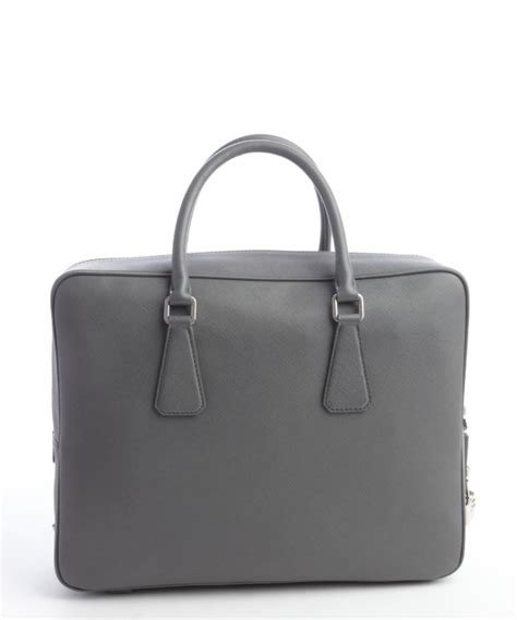 Prada Saffiano Size 25 lyst prada mercury saffiano leather small travel bag in gray for