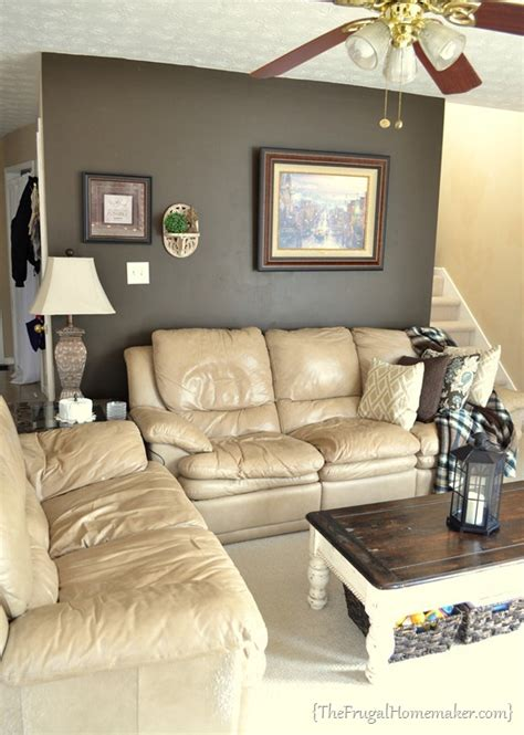 tan couch what color walls house tour living room