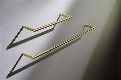 Brushed Brass Towel Hanging Rail & Bars   Moca Bathroom