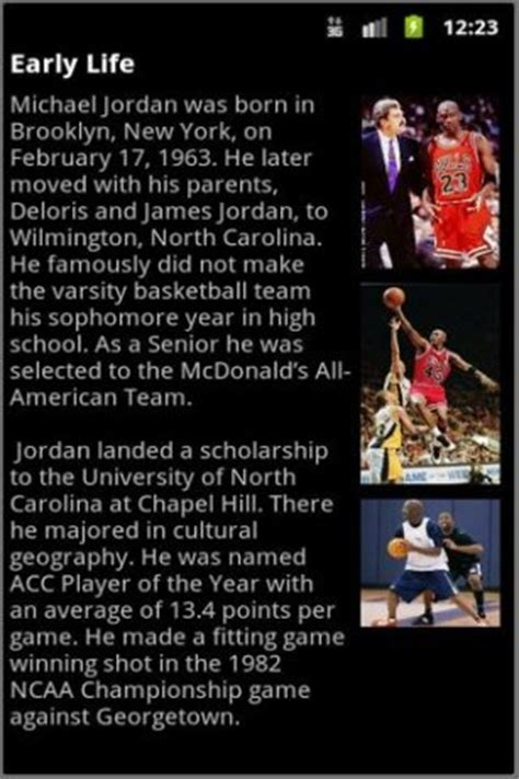 does michael jordan have a biography download biography michael jordan for android appszoom