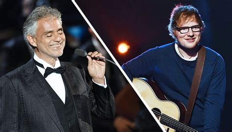 ed sheeran perfect orchestra ed sheeran teams up with andrea bocelli for an orchestral
