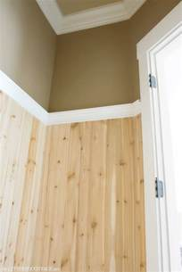 Lowes Wainscoting Trim Half Bath Update Tile And Wood The Lettered Cottage