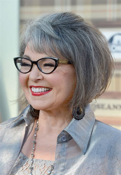 gray hairstyles with glasses roseanne barr photos photos comedy central roast of