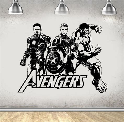 avengers home decor new arrival design avengers hulk iron man wall stickers