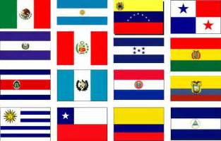 hispanic colors the flags of the 16 speaking american