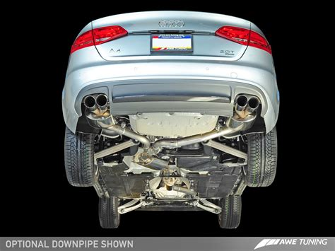 Audi A4 Auspuff by Awe Tuning B8 A4 2 0t Touring Edition Exhaust And Downpipe