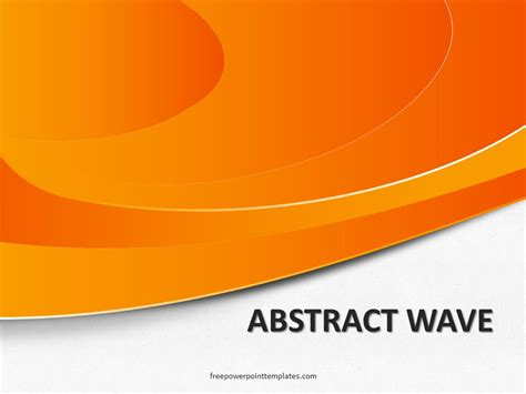 orange powerpoint template free abstract wave orange powerpoint template