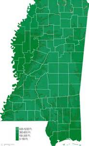 Ms State Map by Mississippi Physical Map And Mississippi Topographic Map