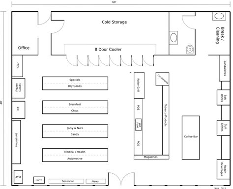 Plan Store | floor plan convenience store 171 mithril and mages