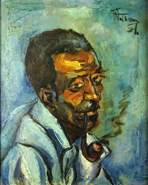 biography of jamaican artist osmond watson osmond watson jamaican 1934 2005 oil on canvas quot man with