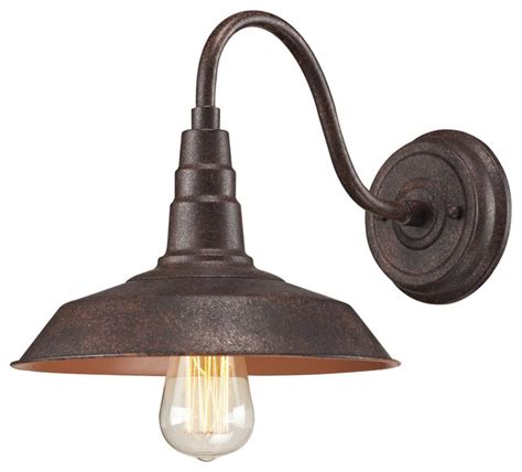 Rustic Wall Sconce Lighting Lodge 1 Light Sconce Rustic Wall Sconces By Elk International