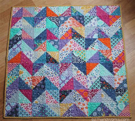 Patchwork Baby Quilt - patchwork zigzag baby quilt 627handworks