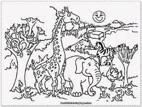 Preschool Zoo Coloring Pages  AZ sketch template