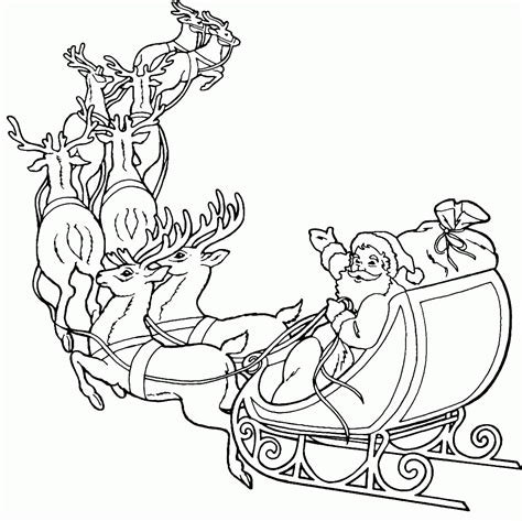 coloring pages santa with reindeer santa and reindeer coloring pages printable coloring home
