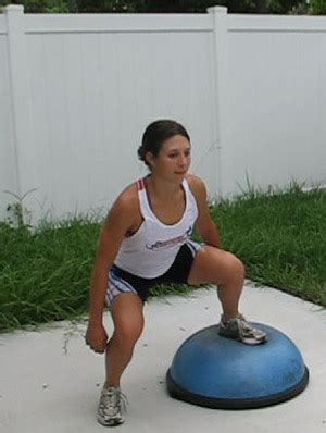 To Floor Squats by Bosu Squats One Leg On Floor
