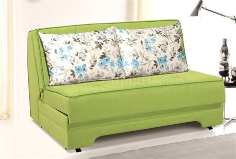 loveseat with pullout bed rio pull out loveseat bed in green suede fabric by rain