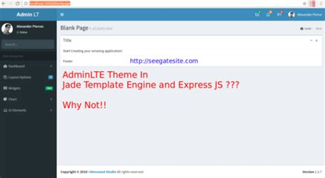 jade template engine how to transfer adminlte to jade template engine in express js