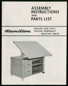 Drafting Table Parts The State Assembly And Parts List Hamilton Drafting Tables Cover Assembly