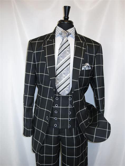black and white pattern vest kent park m2698bk quot black white window pane quot vested men s