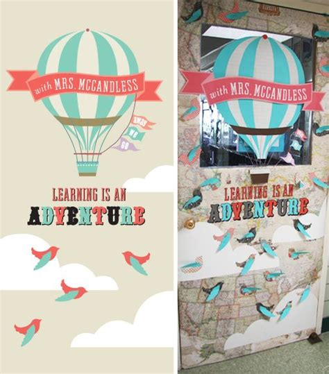 classroom themes hot air balloons 17 best images about teacher appreciation doors on